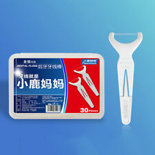 30Pcs/box Sticks Health Tooth Clean Picks Dental Floss Flosser Toothpicks GW