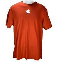 Apple Store Mens Sz Medium Employee T Shirt Red with Embroidered White Logo