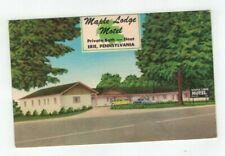 PA Erie Pennsylvania antique Roadside America post card Maple Lodge Motel