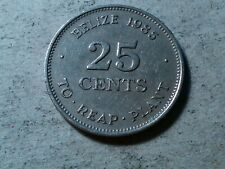 Belize 25 cents 1985 FAO To Reap Plant