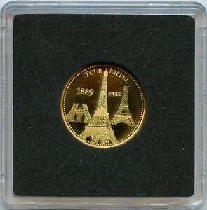 Les Merveilles de Paris Médaille Or gold Tour Eiffel