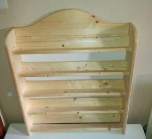 Rustic Pine Wooden Handmade Ribbon Holder / Rack /  5 Shelves - Craft Room