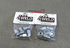 8 Weld Racing Open End Chrome Lug Nuts Shanked M12 x 1.50 RH Thread - 601-1452