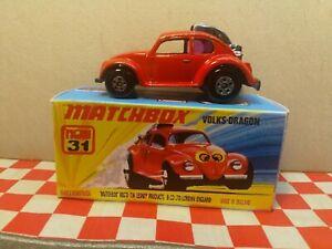 Matchbox Superfast No31 Volks Dragon in Repro Box