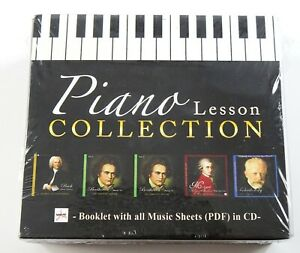 Piano Lesson Collection CD Set w PDF Music Sheets Scores Bach Beethoven Mozart