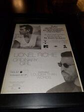 John Mellencamp/Lionel Richie Rare Original Radio Promo Poster Ad Framed!