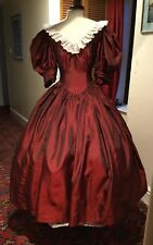 VINTAGE 1980's WINE RED VICTORIAN STYLE BRIDESMAID DRESS