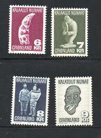 Greenland Sc 102-5 1977-1980 Native Art stamp set mint NH