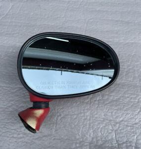 1990-1997 Mazda Miata Mx5 Mirror Right Side Manual Passengers Red OEM