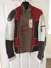 Expensive GianFranco Ferre mens jacket with many zip and leather and viscose