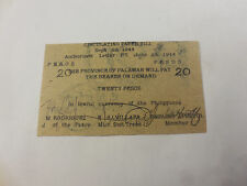 Philippines Emergency Currency Palawan Brooke's Point 20 Pesos - # 32500