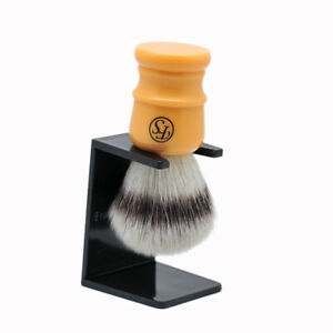 Frank Shaving 24mm Pur Tech Fiber Silvertip Shaving Brush w/ Butterscotch Handle