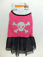"Skull & Crossbones Pink Dress Pet Costume for L Large Dogs 17 - 19"" Celebrate It"