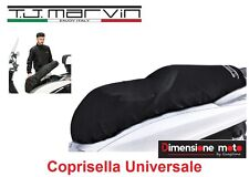 Coprisella XXL Universale TJ-Marvin Impermeabile Nero per Moto e Scooter Aprilia