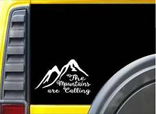 The Mountains are Calling L167 8 inch Sticker Mountain decal