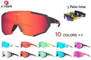5 lens Cycling Glasses Bicycle Sports Eyewear Bike Goggles Polarized UV400 AUS
