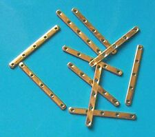 10 gold plated 5-hole spacer bars, jewellery findings