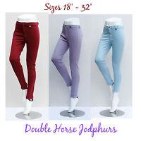 LADIES & CHILDREN JODHPURS Kids Sizes Pink Purple Horse 6 8 10 12 2 Tone Jodphur