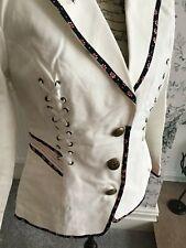 BNWT JOE BROWNS  White Corset Jacket Coat Blazer Size 12 Spring