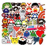 50 Random Skateboard bomb Vinyl Laptop Luggage Dope Decal Pixel style Stickers