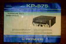 PIONEER KP-575 CAR STEREO CASSETTE PLAYER OWNERS MANUAL 1970'S
