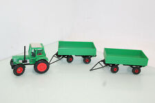 Gama Traktor Deutz D 100 06 + 2 Anhänger grün 015  Western Germany (JS8468).o