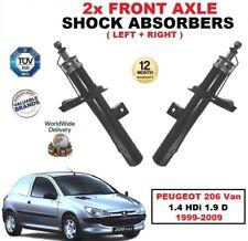 AVANT GAUCHE + DROIT Amortisseurs pour Peugeot 206 CAMIONNETTE 1.4 HDI 1.9 D