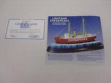 Danbury Mint BROCHURE Lightship Chesapeake  Certificate of Authenticity