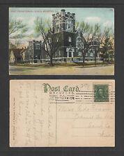 1908 FIRST PRESBYTERIAN CHURCH ROCKFORD ILL POSTCARD