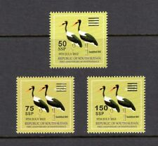 South Sudan 2017 20-22 Scott Nh Surcharges on 5 Ssp Birds - Free Usa Shipping