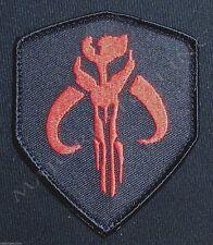 MANDALORIAN BANTHA SKULL STAR WARS HUNTER BOBA FETT BLACK OPS RED VELCRO® PATCH