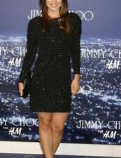 Jimmy Choo for H&M Black Rhinestone Mini Dress Party BNWT UK XS