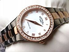 NEW Rotary Ladies Rose Gold Mother of Pearl Dial Stainless Steel Watch