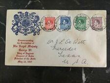 1937 Salamaua New Guinea First Day Cover FDC Coronation KGVI King George