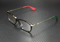 GUCCI GG0112Oa 002 Rectangular Square Havana Demo Lens 53 mm Women's Eyeglasses