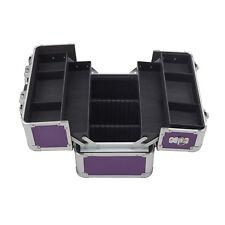 Beautycase lila Aluminium Koffer Hardcase Make up abschließbar Kosmetikkoffer
