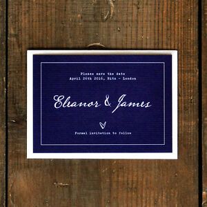 Fountain Pen Calligraphy Wedding Save the Date or Save the Evening - Classic