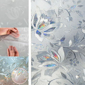 Frosted Self-Adhesive Window Film Privacy Glass Sticky Back Vinyl Static Cover
