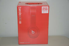 Beats Dr. Dre Solo HD Wired Headband Headphones  Earphones Drenched In Matte Red