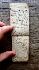 New ListingCirca 1852-1853 Handwritten Diary Traveling Actor Down South Via Steamboat 50pp