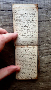 CIRCA 1852-1853 HANDWRITTEN DIARY TRAVELING ACTOR DOWN SOUTH VIA STEAMBOAT 50pp