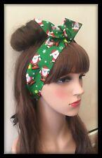 Christmas Headband Bandana Hairband Hair Tie Band Fabric Bow Scarf Dress Party