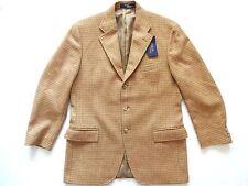 New Ralph Lauren Polo Italy 100% Wool Printed Beige Sport Coat Jacket sz 40 Reg