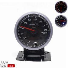 """2.5"""" 60mm Car LED Electronic Volt Voltage Gauge Meter Auto Voltmeter Ammeter"""