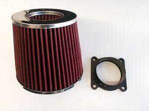 RED Air Intake Filter + MAF Sensor Adapter For 2003-2006 Infiniti G35 3.5L V6