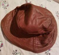 Burgundy Wilsons leather hat