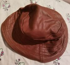 Burgundy Wilsons leather hat