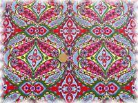 Marie Popeline rot Baumwolle Webware Stenzo Blumen und Ornamente 50 cm