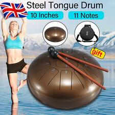 10'' Steel Tongue Drum Handpan Hand Folk Instrument 11 Scale + Mallet Yoga
