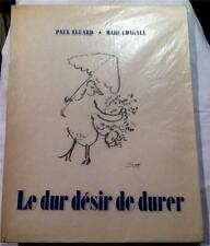 1950 PAUL ELUARD MARC CHAGALL PARIS SURREAL BORDAS FRENCH EDITION RARE